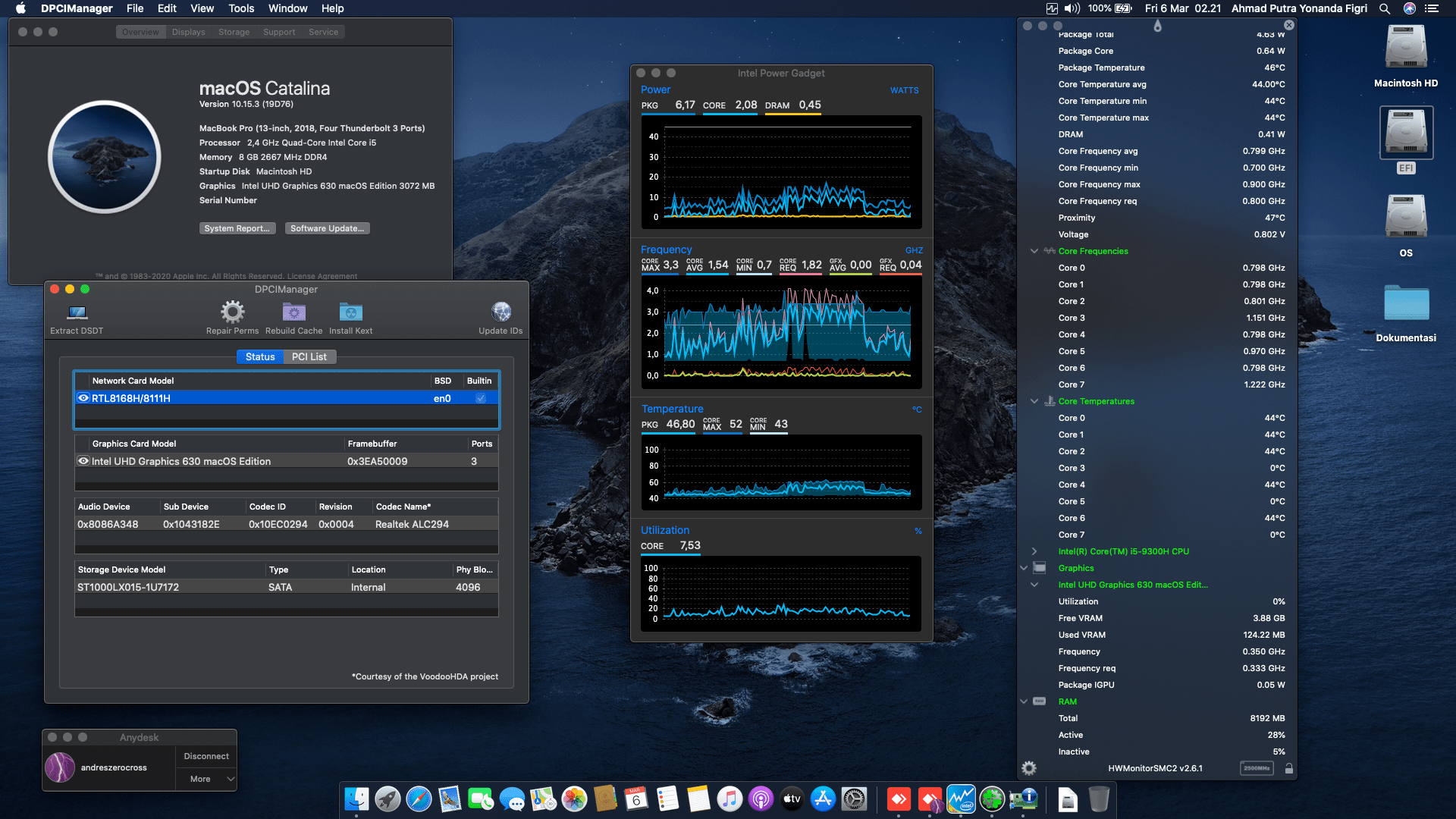 Success Hackintosh macOS Catalina 10.15.3 Build 19D76 in ASUS ROG Strix III G531GD-I505G1T